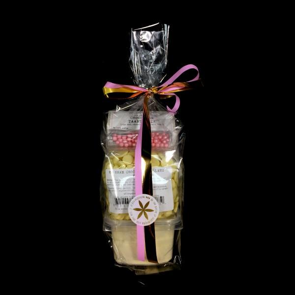 Luxe chocoladetaart-pakket wit