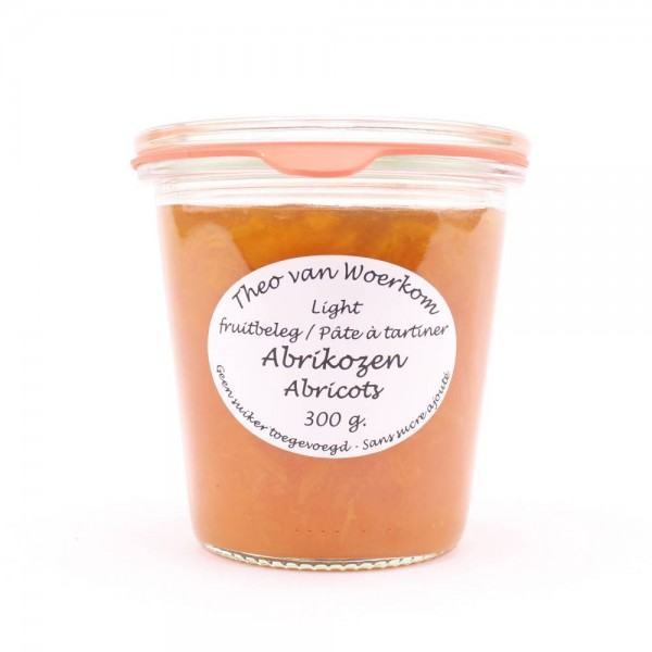Fruitbeleg abrikozen, zonder toegevoegde suiker